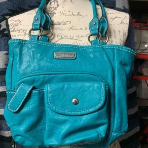 Teal Rossetti hand bag